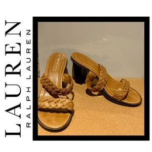 Lauren Ralph Lauren Kardelle Braid Leather Sandal